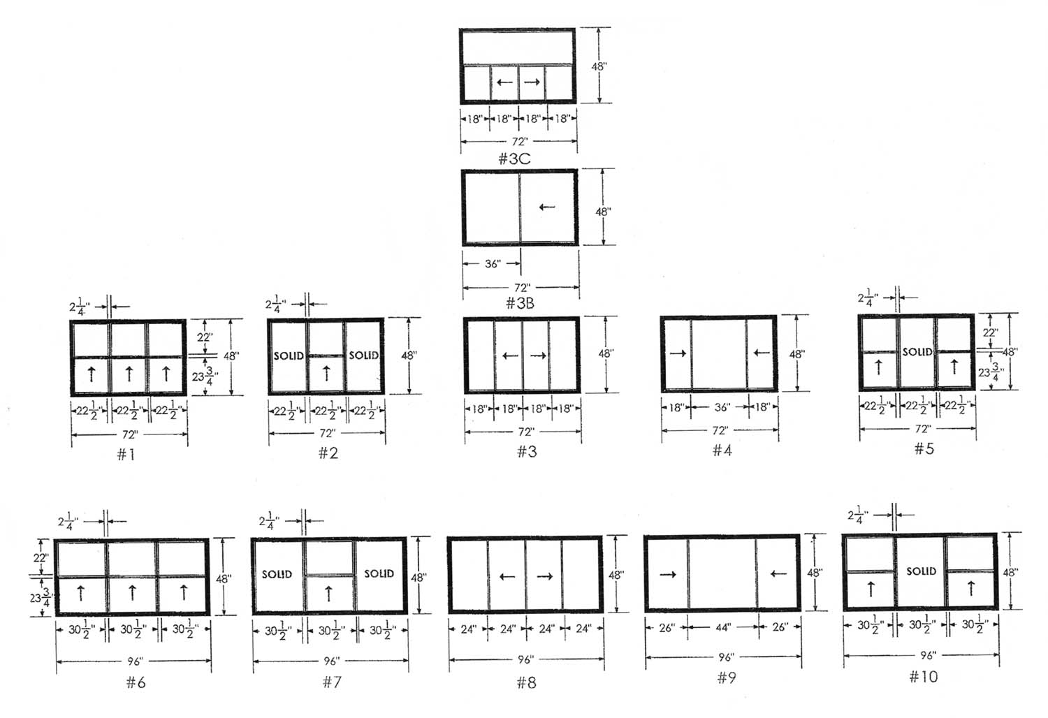 Window sizes chart car interior design for Replacement window sizes